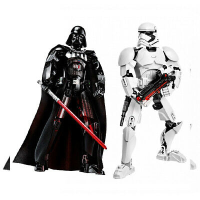 Star Wars Buildable Figure Stormtrooper Darth Vader Kylo Ren Chewbacca Boba...