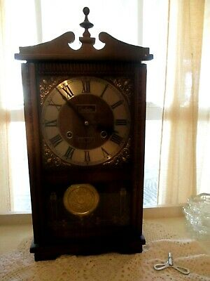 Vintage Centurion  35 Day Chime Gong  Wall Clock OR set on table/buffet, etc.