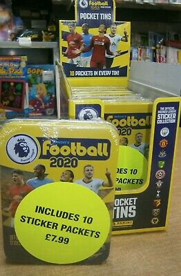 Panini Football 2020 Official Premier League Sticker Pocket Tin with 10 packets