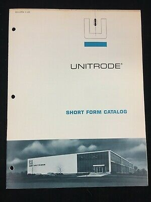 1967 Unitrode Corporation Catalog, A New Method Of Avalanche Diode Construction
