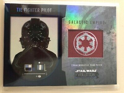 2016 Topps Star Wars Evolution Tie Fighter Pilot Galactic Empire Flag Patch #/50
