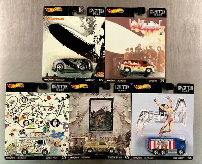 2020 Hot Wheels Premium Led-Zeppelin Pop Culture ( Set Of 5 ) Hiway Austin Mini