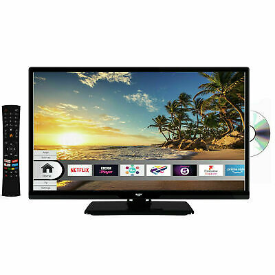 Bush 24 Inch Smart HD Ready TV / DVD Combi - Black ELED24HDSDVD WiFi Built-In