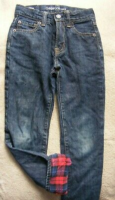 Gap Flannel Lined Jeans Boys Size 8 Slim