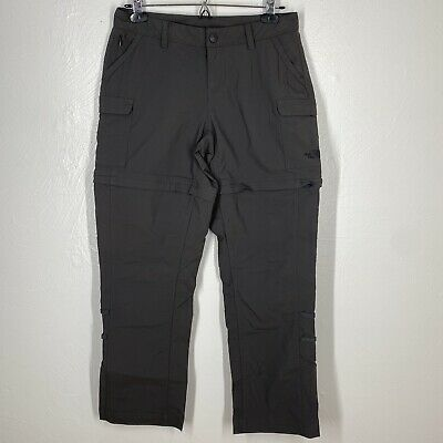 """The North Face Women's Convertible Pants Size 4 Inseam 28"""" GrayHiking Outdoor"""