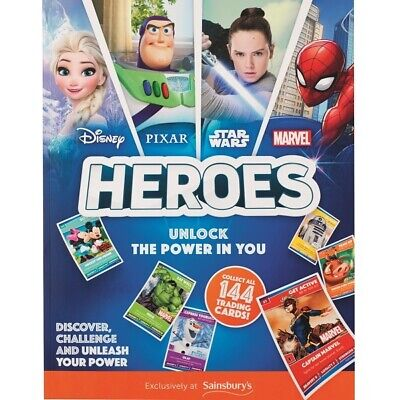 Sainsburys Disney Pixar Heroes full set of every one of 144 cards. Brand new.
