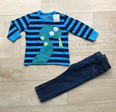 NEXT BOYS OUTFIT *9-12m BABY BOYS JEANS & NEW TOP OUTFIT 9-12 MONTHS
