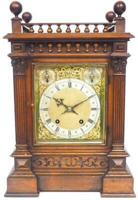 Antique W&H 8Day Bracket Clock Ting Tang Quarter Striking Mahogany Mantel Clock