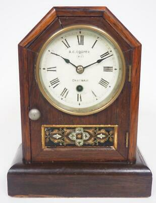 Seth Thomas Antique Cottage Mantel Clock Retailed By D Cooper Chatham Working