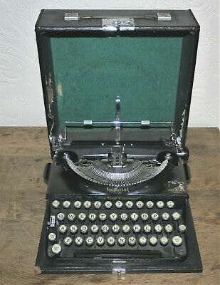 Vintage IMPERIAL Good Companion portable typewriter working order;c,1932.  AU008
