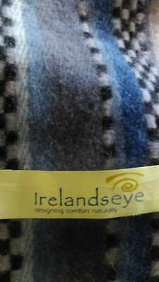 Irelands Eye Men's Extra Fine Lambs Wool Scarf 169cm x 29cm FREE STANDARD POST