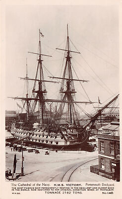 R231398 The Cathedral of the Navy. H. M. S. Victory. Portsmouth Dockyard. M. and