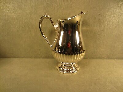 Newport by Gorham Silver Plated Footed Water Pitcher with Ice Catcher