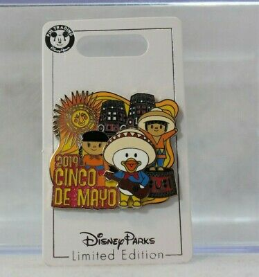 Disney Parks LE 3500 Pin Cinco De Mayo 2019 Small World Donald Mexico
