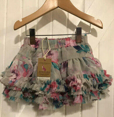 Joules Baby Girl Age 12 Months Lilian Tutu Skirt New W Tags Ruffle Detail Floral