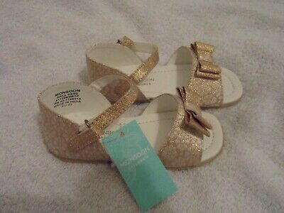 Monsoon baby girl strappy shoes brand new with tags UK size 6