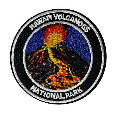 Mauna Loa Volcano Hawaii Embroidered Patch Iron Sew-On Souvenir Gear Applique