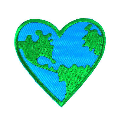 World Earth Day Planet Embroidered Iron On Patch 201 Earth