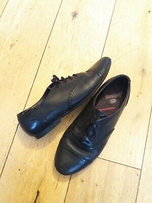 Girls Clarks Bootleg Black Leather Shoes UK 3.5F