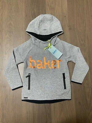 New Ted Baker Boys Grey Hoodie Jumper Size 3-4 Years