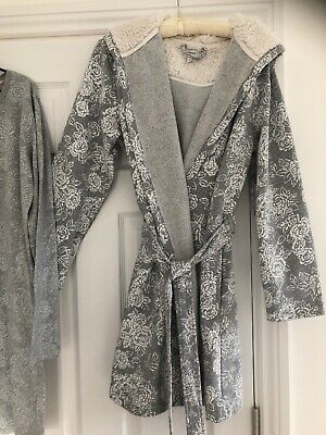 John Lewis Womens Dressing Gown M & Nightshirt With Warm Hood. Size 14