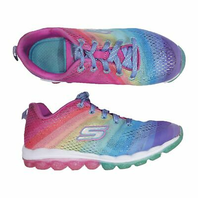 SKECHERS RAINBOW SKECH AIR Girls Size 5 Sneakers Lace Up