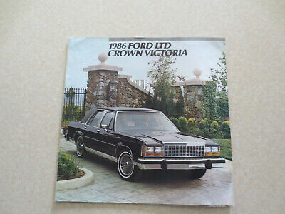 1986 Ford LTD Crown Victoria automobile advertising booklet -- ---