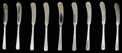 Lot Of 9 Towle CANDLELIGHT Sterling Silver Flat Handle Butter Spreader A7804