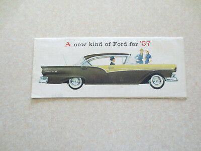 Original 1957 Ford promotional booklet for Fairlane & Custom car & station wagon