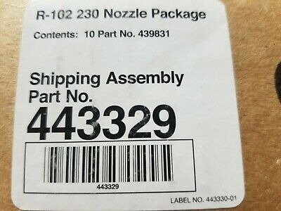 ANSUL R-102 NOZZLES NEW 230 SET OF 10 Free Shipping
