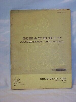 vintage Heathkit Assembly Manual - Solid State VOM - Model IM-25