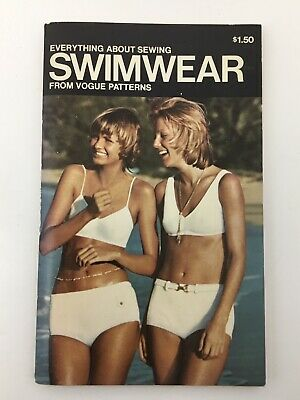 Vintage Vogue Patterns Book Everything About Sewing Swimwear 1970s USA