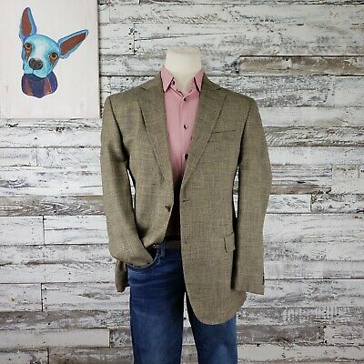 Jack Victor Exclusive Collection Mens Bamboo Viscose Blazer Sport Coat Brown 44L