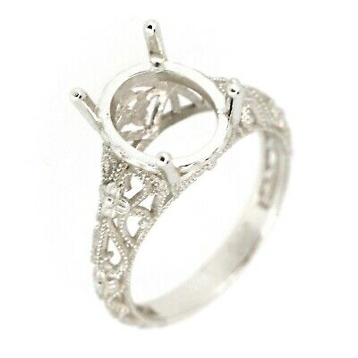 Marquise Wire Sterling Silver Pre-Notched Ring Setting Size 5-9 10x5-20x10mm