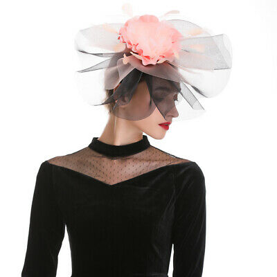 Women Flower Feather Bead Corsage Hair Clips Fascinator Hair Accessory Party