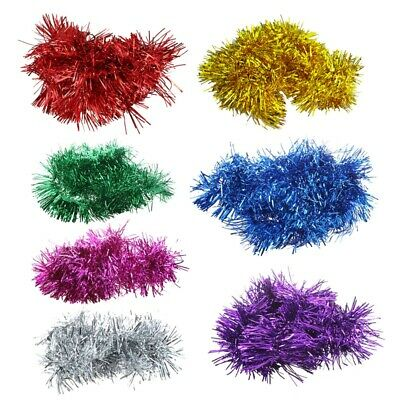 1X( 2m (6.5 Ft) Christmas Tinsel Tree Decorations Tinsel Garland (gold) M6R6)