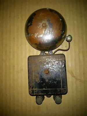 1920s Vintage Door Bell General Store Business Cast Iron Brass Industrial Tested