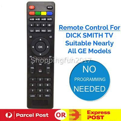 NEW LED LCD HD TV Remote for Dick Smith TV Models - No setup required AU X