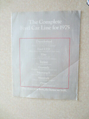 1975 Ford car line advertising brochure - USA ---