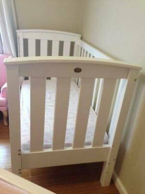 Genesis Coogee Baby Cot + Matching Change Table with Drawers + Mattress + cover