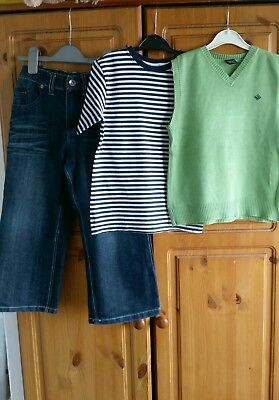 boys outfit Next top with tank top and George jeans 5-6 years