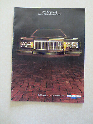 1974 Chevrolet Caprice & Impala & Bel Air cars advertising booklet -- -----