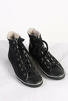 Vintage Converse All Star Womens High Top Sneakers Lined UK 7 Black - S776