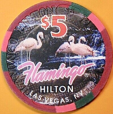 $5.00 Casino Chip. Flamingo Hilton, Las Vegas, NV. O38.