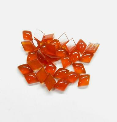 Superb Lot Natural Carnelian 4X6 mm Octagon Cabochon Loose Gemstone AB01
