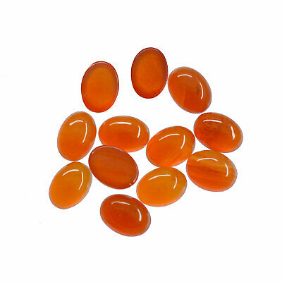Superb Lot Natural Carnelian 4X6 mm Oval Cabochon Loose Gemstone AB01