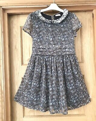 NEXT *11y GIRLS FLORAL SEQUIN DOUBLE LAYERED DRESS OUTFIT AGE 11 YEARS