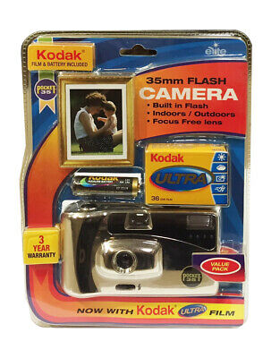 Kodak Flash Reusable Camera (36 Exposures) with Kodak Film & AA battery