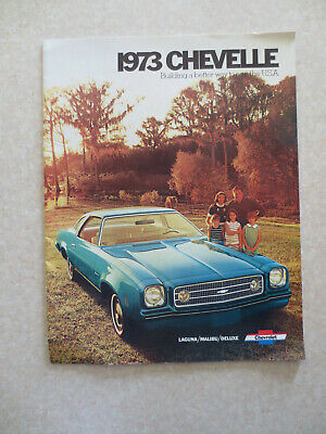 1973 Chevrolet Chevelle car advertising booklet - Chevy -- ----
