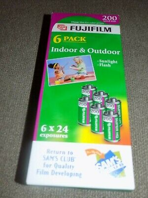 Fuji Film 200 speed 6 pack 35mm color film prints Indoor and outdoor
